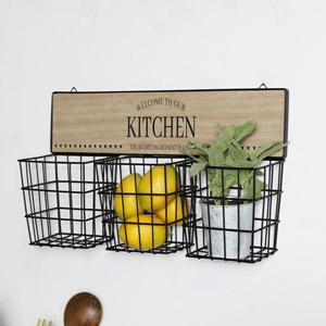 Rustic Basket Wall Storage