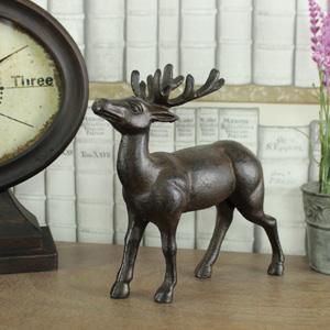 Rustic Cast Iron Stag Ornament