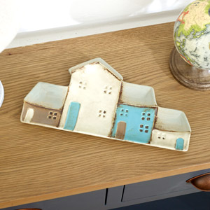 Rustic Cottage Ceramic Trinket Tray
