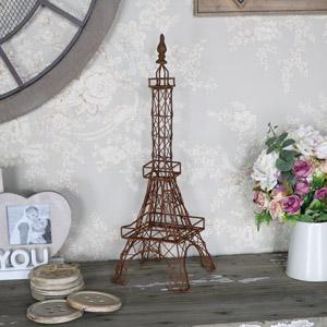 Rustic Eiffel Tower Ornament