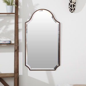 Rustic Frameless Shaped Wall Mirror