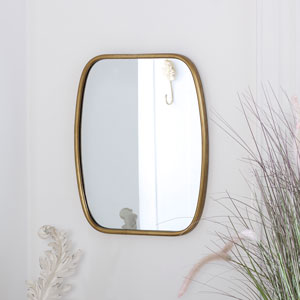 Rustic Gold Framed Mirror 40cm x 48.5cm