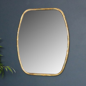 Rustic Gold Framed Wall Mirror