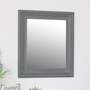 Rustic Grey Wall Mirror 48cm x 56cm