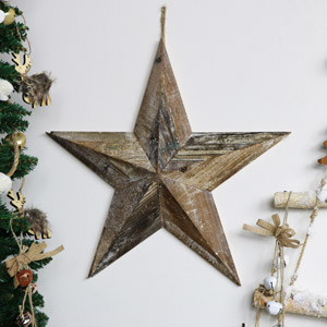 Rustic Hanging Barn Star