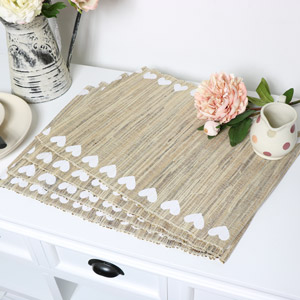 Rustic Heart Placemats - Set of 4