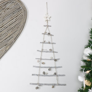 Rustic Ladder Hanging Christmas Tree