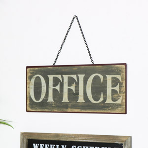 Rustic Metal Office Sign