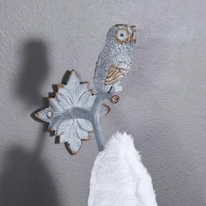 Rustic Metal Owl Coat Hook