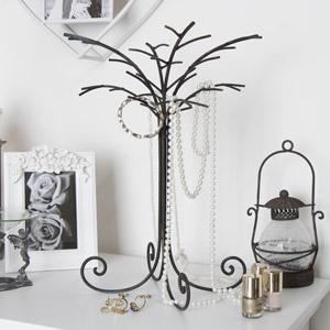 Rustic Metal Tree Branch Jewellery Holder