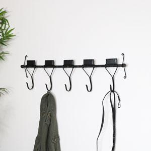 Rustic Metal Wall Mounted Coat Hooks