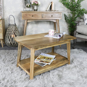 Rustic Natural Wood Coffee Table - Oslo Range