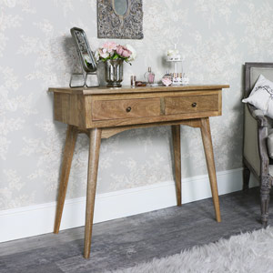 Rustic Natural Wood Console Table - Oslo Range