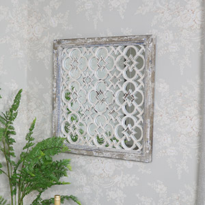 Rustic Ornate Wall Mirror 65cm x 65cm