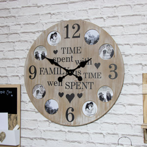 Rustic Photograph Frame Wall Clock