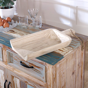 Rustic Wooden Shovel Tray