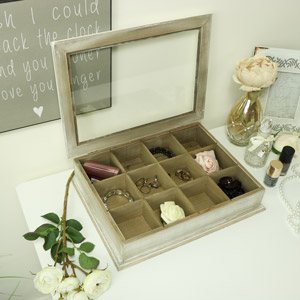 Rustic Wooden Tea / Trinket Storage Box