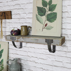 Rustic Wooden Wall Shelf