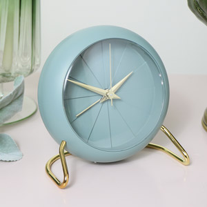 Sage Green Desk Alarm Clock