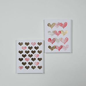 Set of 2 Watercolour Heart Canvas Wall Prints