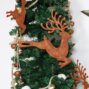Set of 3 Christmas Copper Prancing Reindeers