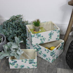 Set of 3 Eucalyptus Storage Boxes