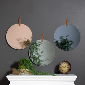Set of 3 Frameless Circle Wall Mirrors