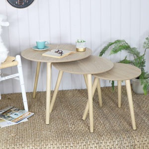 Set of 3 Round Nest of Tables