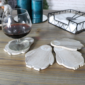 Set of Wooden Baby Penguin Coasters