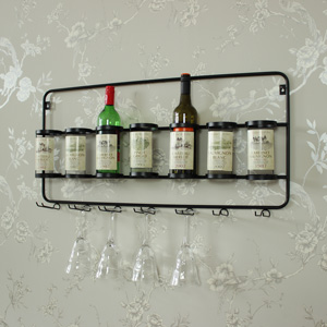 Seven Bottle & Wine Glass Holder