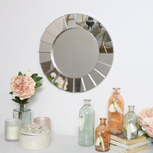 Silver Deco Wall Mirror