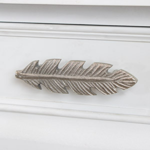Silver Feather Drawer Knob