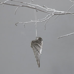 Silver Hanging Angel Wing Decoration
