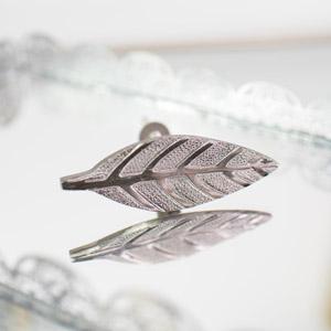 Silver Leaf Drawer Knob