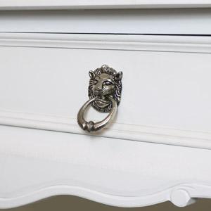 Silver Lion Head Drawer Knob