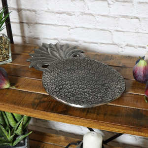Silver Metal Pineapple Display Trinket Display Tray