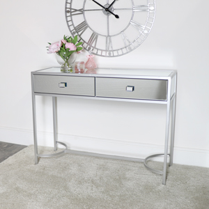 Silver Mirrored Console Hall Table - Thalia Range
