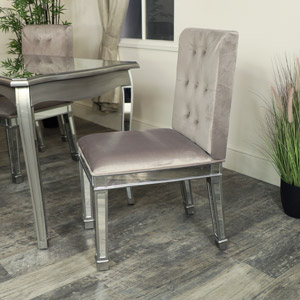 Silver Mirrored Dining Chair - Tiffany Range