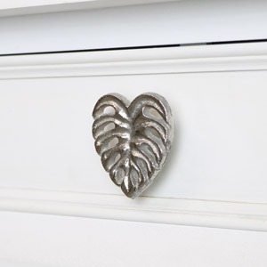 Silver Monstera Leaf Drawer Knob