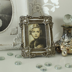 Silver Ornate Photograph Frame