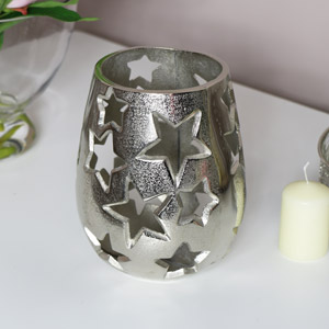 Silver Star Candle Holder