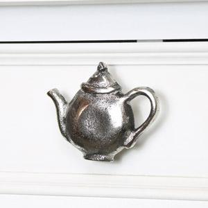 Silver Teapot Drawer Knob