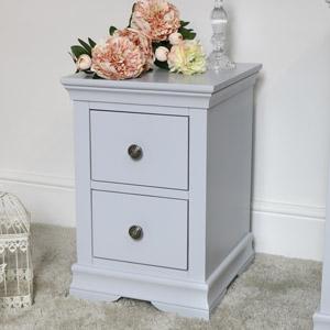Slim Bedside Table - Newbury Grey Range