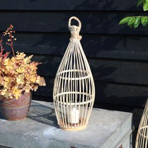 Small Bamboo Candle Lantern