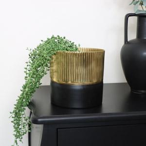 Small Black & Gold Planter