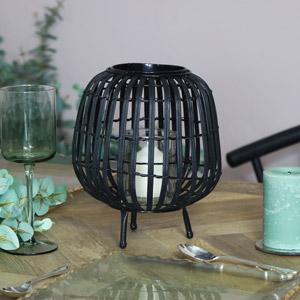 Small Black Rattan Lantern