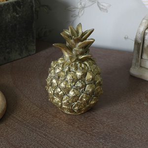 Small Decorative Gold Pineapple Ornament