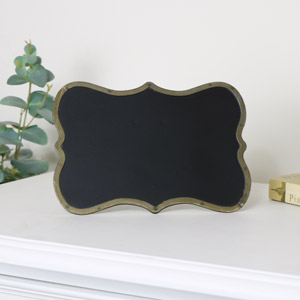 Small Freestanding Brass Chalkboard