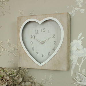 Rustic Heart Wall Clock