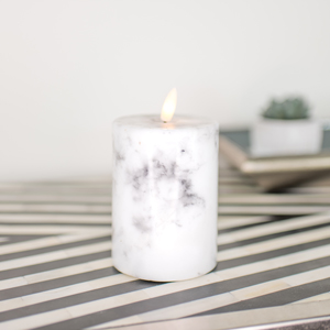 Small LED Marble Candle
